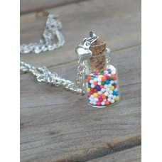 Adorable Mini Sprinkles Necklace With Heart Charm