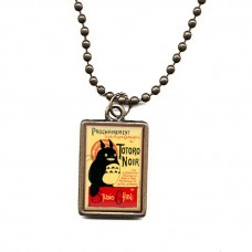 Totoro Noir Movie Poster Necklace