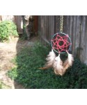Genuine American Indian Dreamcatcher Necklace With Feathers